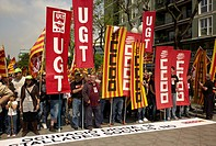 -Demonstration 1st of May in Tarragona- Catalonia (Spain).