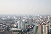 Aerial view of a cityscape, Bangkok, Thailand