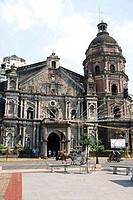 Facade of a church, Binondo Church, Manila, Philippines