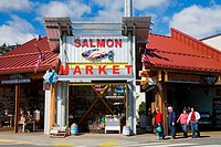 Facade of a salmon store, Ketchikan, Alaska, USA