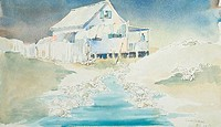 Cape Cottage, Margie Livingston Campbell, b.20th C./American, Watercolor
