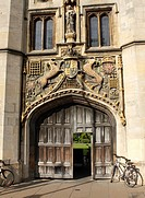 Entrance gate Christ's College Cambridge