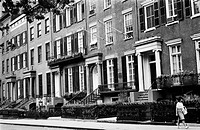 WASHINGTON SQUARE, c1964.19th century town houses on the north side of Washington Square in New York City, c1964.