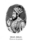 SHAH JAHAN (1592-1666).Fifth emperor of Hindustan (1628-1658) of Mogul dynasty. Contemporary Mogul miniature.