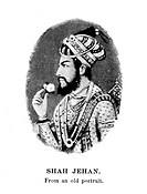 SHAH JAHAN (1592-1666).Fifth emperor of Hindustan (1628-1658) of Mogul dynasty. Contemporary Mogul miniature.