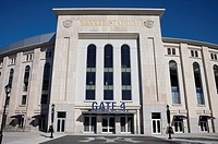 BRONX, NEW YORK - SEPTEMBER 14: Yankee Stadium sports building in the Bronx, New York