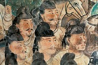 Asian Warriors: Tang Period Chien Tomb Chinese Art_  Fresco