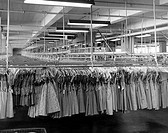 Warehouse interior of a textile factory, Garment District, New York City, New York State, USA