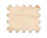 Blank vintage post stamp. Saved with clipping path.
