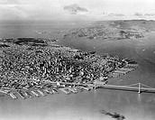 USA, California, San Francisco with Oakland Bay Bridge