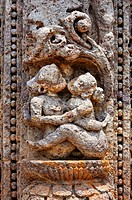 India - Orissa - Konark - sculptural detail at the Sun Temple