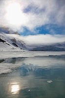 Holmiabukta Glacier in summer, Spitsbergen, Svalbard Islands, Norway
