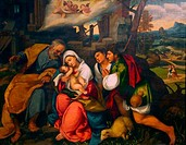 Adoration of the Shepherds, by Bonifazio de Pitati, Veronese, circa 1520_1540, Birmingham Museum & Art Gallery, England