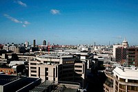 Skyline view looking west from The City of London taking in St Paul´s Cathedral, Tate Modern, London Eye and BT Tower, London, UK