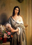 Melancholy Pensiero Malinconico by Francesco Hayez, oil on canvas, 1791_1882, Italy, Milan, Pinacoteca di Brera