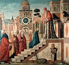 Presentation of Mary at the Temple 1500_1510 Vittore Carpaccio ca. 1455_1526 Italian Oil on canvas Pinacoteca di Brera, Milan, Italy