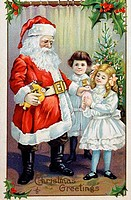 Christmas Greetings Nostalgia Cards