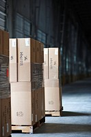 Pallets of Stacked Boxes