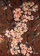 Springtime Blossoms by John Bunker, acrylic on canvas, 2000