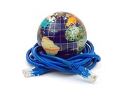 Globe and internet cable
