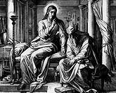 Christ´s Discussion with Nicodemus on Eternal Life by Julius Schnorr von Carolsfeld, print, 1794_1872