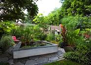 Landscaped Garden With Koi Pond