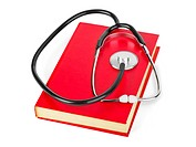 Stethoscope and book
