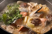 Ishikari Nabe, Pot Cuisine, local cuisine, local dishes, Japanese Cuisine, Hokkaido, Japan
