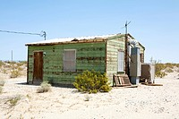 House in Desert, Twenty Nine Palms, Mojave Desert, California, USA, North America