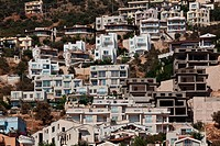 Residential buildings overlooking Kalkan harbor.