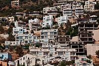 Residential buildings overlooking Kalkan harbor.