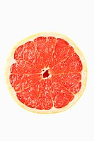Grapefruit against white background
