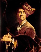 HYACINTHE RIGAUD (1649-1743).French painter. Oil on canvas, self portrait, 1701.