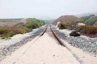 rails in the dunes