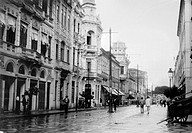 BRAZIL: BAHIA.Main street of Bahia, Brazil. Photograph, early 20th century.