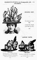 HAT ADVERTISEMENT, c1900.English advertisement for ladies' hats, c1900.