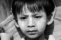Unhappy Burmese Boy in Sanglaburi