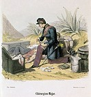 ARMY DOCTOR, 1850.'The Surgeon Major.' Color wood engraving, French, 1850, after F�lix Philippoteaux (1815-1884).