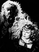 BEAUTY AND THE BEAST, 1946.Josette Day as Beauty and Jean Marais as the Beast in the 1946 film directed by Jean Cocteau.