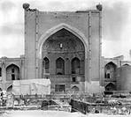 UZBEKISTAN: MADRASAH, 1911.A facade of the madrasah of Bogoeddin, Uzbekistan. Photographed by Sergei Mikhailovich Prokudin-Gorskii, 1911.