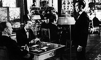 LAST YEAR AT MARIENBAD.Scene at the casino from the 1961 film directed by Alain Resnais.