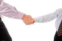 Handshake man and boy