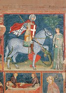 St George and the Princess, by Master of the Last Judgment, 14th Century, fresco