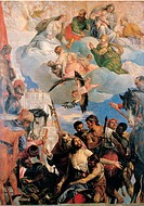 Martyrdom of St George, by Caliari Paolo know as Veronese, 1566, 16th Century, canvas
