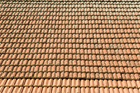 Roof tiles in rows
