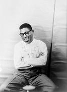 DIZZY GILLESPIE (1917-1993).American musician. Photographed by Carl Van Vechten, 1955.