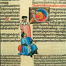 Digestum vetus, by Master of 1328, 14th Century, illuminated manuscript