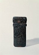 Impressed leather case for touchstone, by Unknown, 1428, 15th Century, leather