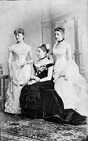 TAFT FAMILY, 1884.Family of American president William Taft. Left to right: Sister-in-law Maria Herron, mother Louise and sister Fanny. Photograph, 18...