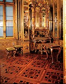 Ornaments in gilt bronze of a two part furniture unit, Queen´s apartment in the Royal Palacen Turin., by Piffetti Pietro, Ladatte Francesco, 1731 _ 17...